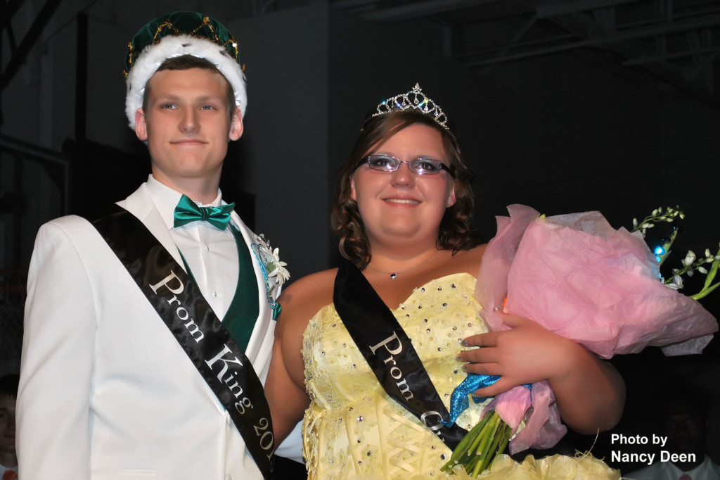 Photo by Nancy Deen West Burlington High School Seniors, Carter Reed and Mariah Hostetter were crowned Prom King and Queen Saturday afternoon at West Burlington High School.