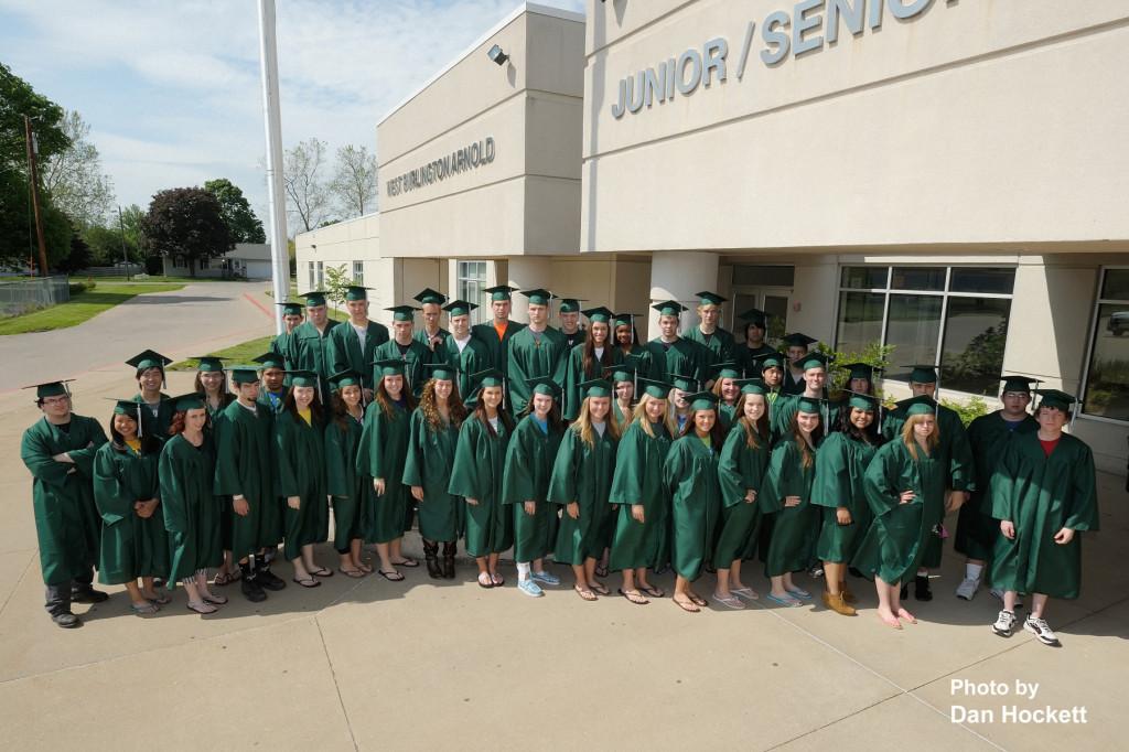 Photo by Dan Hockett West Burlington Arnold High School Class of 2013 will participate in graduation ceremonies at 3p.m. Sunday in the High School Gymnasium.
