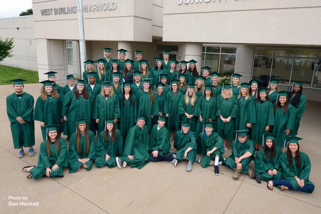 Photo by Dan Hockett West Burlington High School Seniors pose for photo Friday. Graduation ceremonies will be Sunday afternoon in West Burlington.