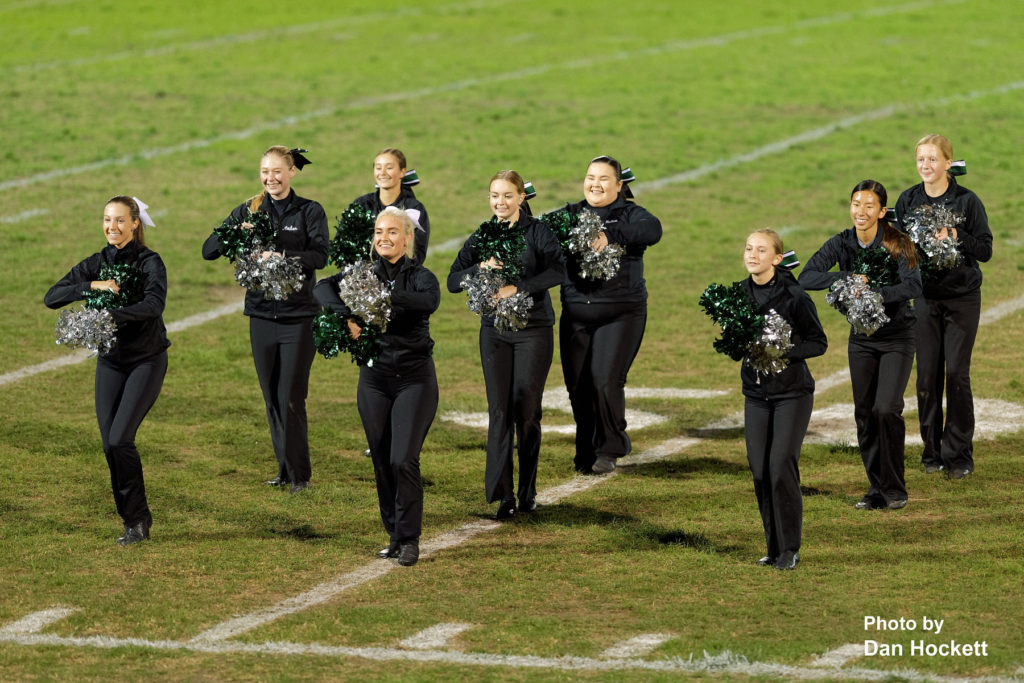 Photo by Dan Hockett West Burlington Dance Team entertains during halftime of Friday night's game in West Burlington.